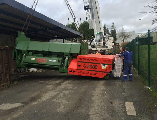 Installation 5 meter scrap metal car baler