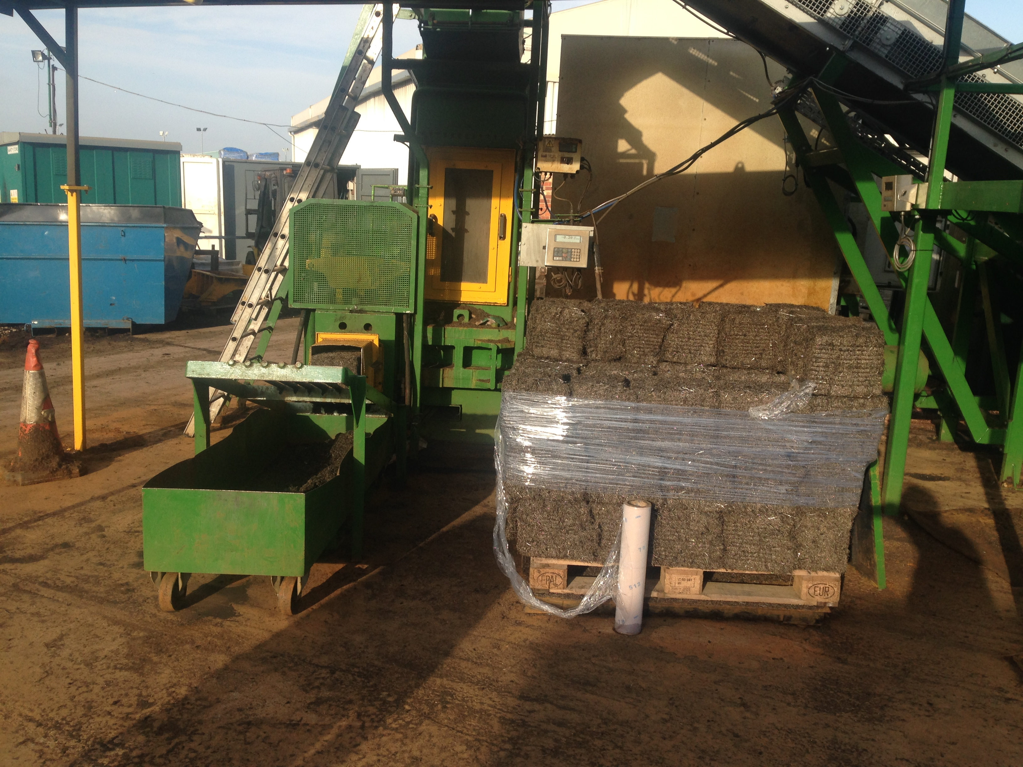 tire wire baler