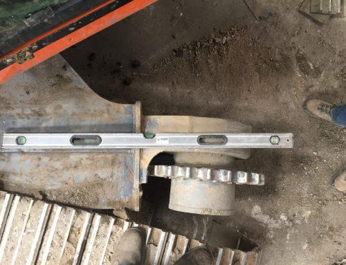 Excavator Track Frame Repair