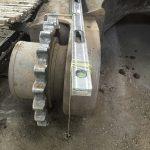 Bent track frame hub carrier